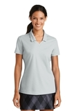 Women's Nike Golf Shirt Dri-FIT Micro Pique Polo Shirt Wolf Grey Thumbnail