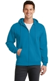 7.8-oz Full-zip Hooded Sweatshirt Neon Blue Thumbnail