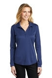 Women's Silk Touch Performance Long Sleeve Polo Royal Thumbnail