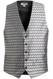 Men's Swirl Brocade Vest Silver Thumbnail