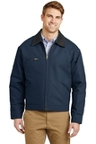 Duck Cloth Work Jacket Navy with Black Thumbnail