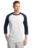 Colorblock Raglan Jersey White with Navy Thumbnail