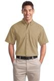Short Sleeve Twill Shirt Khaki Thumbnail