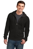 Young Men's Lightweight Jersey Full-zip Hoodie Black Thumbnail