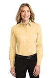 Women's Long Sleeve Easy Care Shirt Yellow Thumbnail