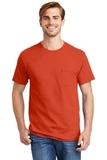 Tagless 100 Comfortsoft Cotton T-shirt With Pocket Orange Thumbnail