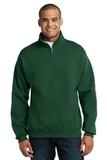 1/4-zip Cadet Collar Sweatshirt Forest Green Thumbnail