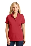 Women's Dry Zone UV MicroMesh Tipped Polo Rich Red with Deep Black Thumbnail