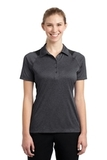 Women's Heather Colorblock Contender Polo Graphite Heather with Black Thumbnail