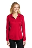 Women's Silk Touch Performance Long Sleeve Polo Red Thumbnail