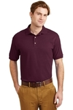 Ultra Blend 5.6-ounce Jersey Knit Sport Shirt Maroon Thumbnail