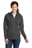 Women's Classic Full-Zip Hooded Sweatshirt Charcoal Thumbnail