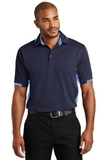 Dry Zone Colorblock Ottoman Polo Shirt Navy with Blue Lake Thumbnail
