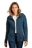 Women's Perfect Weight Fleece Drop Shoulder Full-Zip Hoodie Heathered Poseidon Blue Thumbnail