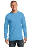 Essential Long Sleeve T-shirt Aquatic Blue Thumbnail