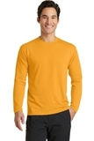 Long Sleeve Essential Blended Performance Tee Gold Thumbnail