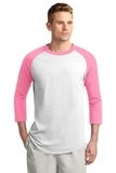 Colorblock Raglan Jersey White with Bright Pink Thumbnail