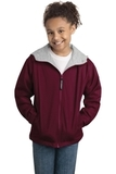 Youth Team Jacket Maroon with Light Oxford Thumbnail