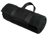 Fleece Blanket With Carrying Strap Black Thumbnail