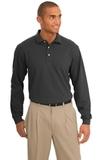 Rapid Dry Long Sleeve Polo Shirt Charcoal Thumbnail