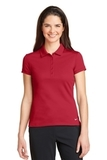 Women's Nike Golf Dri-FIT Solid Icon Pique Modern Fit Polo Gym Red Thumbnail