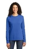 WMC Perinatal Women's Long Sleeve 5.4-oz 100 Cotton T-shirt Royal Thumbnail