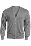 Men's No-pocket Cardigan Grey Heather Thumbnail