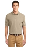 Extended Size Silk Touch Polo Shirt Stone Thumbnail