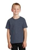 Youth 5.5-oz 100 Cotton T-shirt Heather Navy Thumbnail