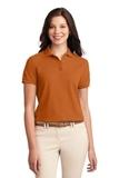 Women's Silk Touch Polo Shirt Texas Orange Thumbnail