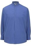Men's Banded Collar Shirt French Blue Thumbnail