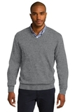 Port Authority V-neck Sweater Medium Heather Grey Thumbnail