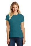 Women's Made Perfect Blend Crew Tee Heathered Teal Thumbnail