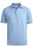 Men's Short Sleeve Soft Touch Blended Pique Polo Blue Thumbnail