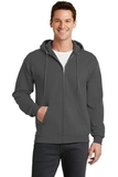 7.8-oz Full-zip Hooded Sweatshirt Charcoal Thumbnail