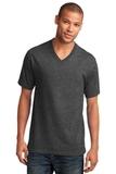 5.4-oz 100 Cotton V-neck T-shirt Dark Heather Grey Thumbnail