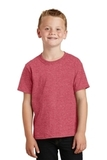 Youth 5.5-oz 100 Cotton T-shirt Heather Red Thumbnail
