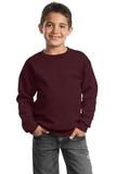 Youth Crewneck Sweatshirt Maroon Thumbnail