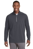 Sport-Wick Textured 1/4-Zip Pullover Iron Grey Thumbnail