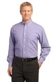 Plaid Pattern Easy Care Shirt Purple Thumbnail