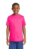 Youth Competitor Tee Neon Pink Thumbnail