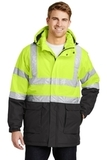Safety Heavyweight Parka Safety Yellow with Black and Reflective Thumbnail