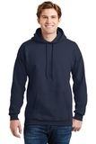 Ultimate Cotton Pullover Hooded Sweatshirt Navy Thumbnail