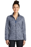 Women's Electric Heather Soft Shell Jacket True Navy Electric Thumbnail