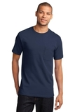 100 Cotton T-shirt With Pocket Navy Thumbnail