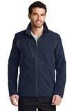 BackBlock Soft Shell Jacket Dress Blue Navy with Battleship Grey Thumbnail