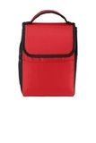 Lunch Bag Cooler Red with Black Thumbnail