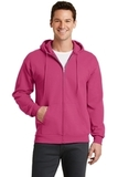 7.8-oz Full-zip Hooded Sweatshirt Sangria Thumbnail