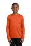 Youth Long Sleeve Competitor Tee Deep Orange Thumbnail