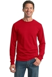 Moisture Management 50/50 Cotton / Poly Long Sleeve T-shirt True Red Thumbnail